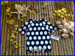 18 months Black and white big polka dot print rash guard toddler, swimwear tops, kids clothes
