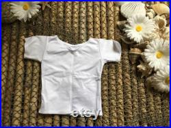 3-6 months white foil scoop neck top with short sleeves, swimwear tops, kids clothes, sun shirts, baby top