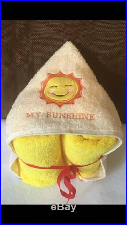 Adorable full size hooded bath towel with my sunshine applique