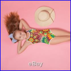 Amazing colorful little girl swimsuit .All-Over Print Kids Swimsuit