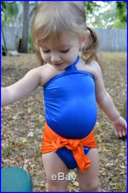 Baby Bathing Suit Florida Gators Colors Wrap Around Swimsuit Toddler Girls Swimwear One Wrap, One Size to fit Newborn Girls to 3T hisOpal