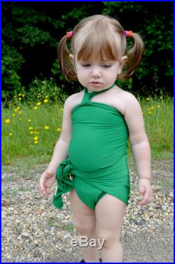Baby Bathing Suit Kelly Green Wrap Around Swimsuit One Wrap Infant Swim Suit Newborn Girls Swimwear Toddler Match Mommy One Size fits Most