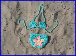 Baby Bikini. Shell Top, Cotton Yarn Available Limited Color, Photo Prop, Baby Gift