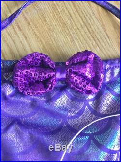 Baby Swimsuit Toddler Swimsuit Girl Swimsuit Baby Swimwear Toddler Swimwear kids Little Mermaid Bathing Suit First Birthday Outfit Purple
