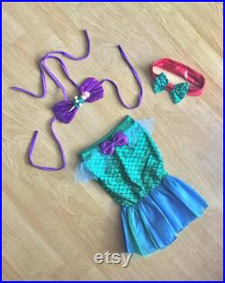 Baby Swimsuit Toddler Swimsuit Girl Swimsuit Swimwear kids Little Mermaid Bathing Suit First Birthday Outfit Tail Skirt Halloween Costume