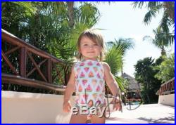 Baby and kids swimsuit, one piece watermelon design (matching swimsuits)