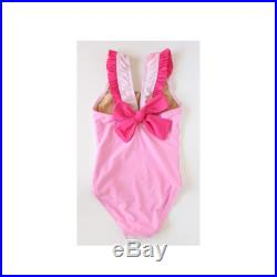 Beautiful swimwear for girls featuring girls swimsuit in pink with sweet anchor image