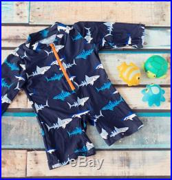 Big Fisch Boys Long sleeve shark print all in one swimming sunsuit wetsuit Age 2 7 Years