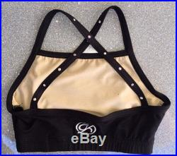 Black Sports Bra with Criss Cross Back with Your Custom Design