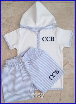 Boys Bathing Suit Cover Up, Boys Cover Up, Beach Cover Up, Personalized Swim Cover Up, Baby Shower Gift, Birthday Gift, Baby Cover Up