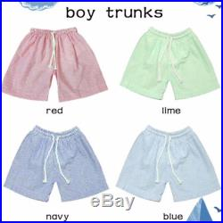 Boys Monogrammed Seersucker Swim Trunks- Sizes 12M-6, Many Colors Available