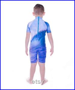 Boys Wave Mini Stretcheyz Short Sleeved Surf Suit and Sun Protection