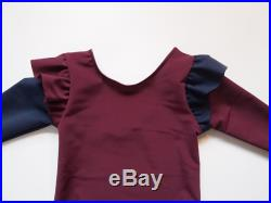Burgundy and Navy 2T Swimsuit