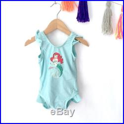 CLEARANCE Vintage girls Ariel Mermaid swimsuit, vintage bathing suit, The little mermaid swimsuit, teal swimsuit, Size 6-12M