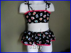 Clearance-two piece girls swimsuit-Size 4T 5,6 The size runs small,please order at least 2 size up