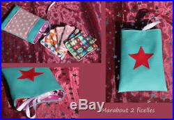 Clutch faux leatherette lingettes Etoiles set and the Russian dolls