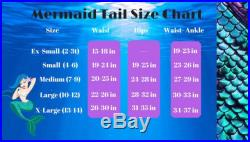 Coastal Blue Scale Mermaid Tail and Top