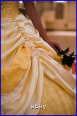 Couture Beauty and the Beast Gown Fairy Tale Prom Gown Disney Inspired Wedding Dress