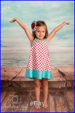 CoverUp Dress in Pink Polkadot and Navy Stripe SS16 Collection (Size 2 10) Markdown