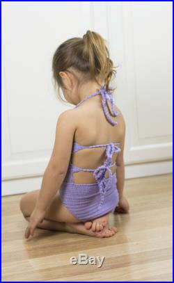 Crochet swimsuit for girl, toddlers and baby girls.