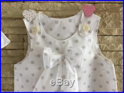 Culotte from sea with matched dress tg 4 years