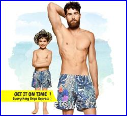 Daddy And Me Matching Swimwear, Fathers Day Gift, Matching Swimsuit, Mens Swim Trunks, Matching Father And Son Swim Trunks, Dad Shorts