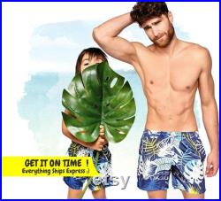 Daddy And Son, Grandfather's Day Gift, Matching Dad And Me Outfit, Printed Shorts, Mens Swimsuit, Matching Father And Son Trunks, Men Swim