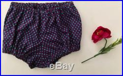 Diaper bloomers for babies, baby boy gift idea, baby nappy cover, newborn swimwear in purple cotton with turquoise dots