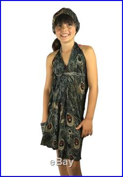 Dressed'n-case Kids Cover-up. Multi-Wear dress in a bag Peacock- FREE SHIPPING in Canada and USA