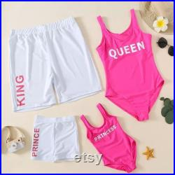 Family Matching Swimwear and Shorts For Dad, Mom, Kids and Baby