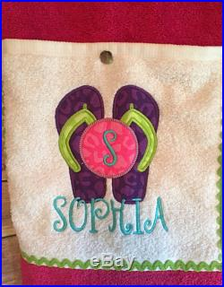Flip Flop Themed Towel Pants for Kids or Teens Personalized with Name or Monogram