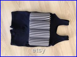 Floating Swimsuit for Infant, Baby and Toddlers.Navy Blue White Stripe Swim Helper FloatSuit Baby Boy Swimsuit. UV PROTECTION Bathing Suits