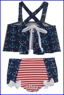 Flouncy Bikini in Anchors Away SS17 Collection (Size 2-12)