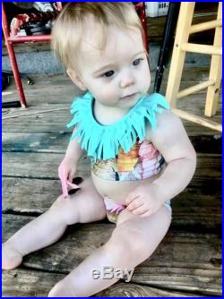 Fringed Feather Two Piece Baby Toddler Swimsuit Baby Girl Bikini