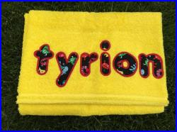Fun, Bold Colored, Plush and Personalized Beach Towels, Embroidered Beach Towel, Monogrammed Towel