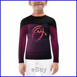 GIRL Personalized Monogram Rash Guard with Letter Drawing
