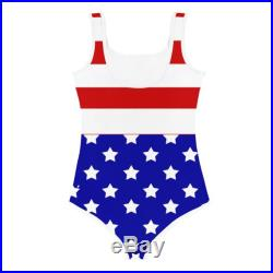 Girl Swimsuit, 4th Of July American Flag Swimsuit, Girls Swimwear, Girls Bathing Suit, Girls One Piece Swimsuit, Kids Beachwear