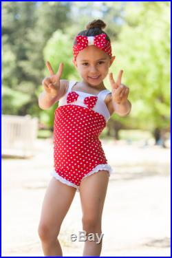 Girls 4th of July Outfit Swimsuit Girls Swimsuit One Piece Swimsuit Bathing Suit Retro Swimsuit Toddler Swimsuit Red Swimsuit