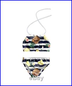 Girls Bikini Swimsuit Toddlers Halter Bathing Suit Toddler Girl Two Piece Swimsuit Kids Pineapple Print Swimsuit Size 12M to 7T