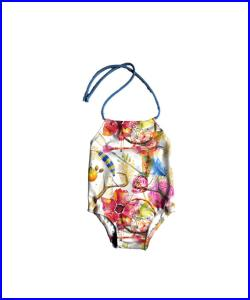 Girls One Piece Swimsuit Toddlers Halter Bathing Suit Toddler Girl Swimsuit Boho Print Size 12M to 6T