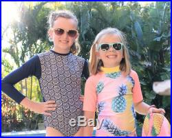 Girls One Piece swimsuit, leotard style, sun protection in long sleeves
