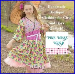 Girls Summer Top and Shorts, 2T 8 yrs