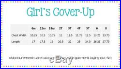 Girls Swim Cover Up Monogrammed Appliqued Summer Vacation Beach