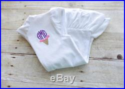 Girls Swimsuit cover up, Infants Swimsuit Cover up, Toddlers Swimsuit Cover Up, Ice Cream Mongoram, Embroidered, Personalize, Pink Monogram