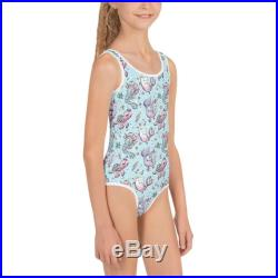 Girls Under The Sea Kids Swimsuit, Narwhal Girls Swimwear, Seahorse Bathing Suit, Turtle One Piece Swimsuit Sizes 2T 7, Mermaid Swimsuit