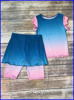 Girls size 10 modest swimsuit set. Ready to Ship