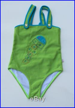 Green One-Piece Swimsuit (Childrens Size 4)