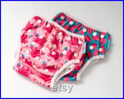Happy Flute swim nappies, Twin Pack, Printed swim nappies, modern Nappies, One size fits most, Baby nappies, adjustable nappy
