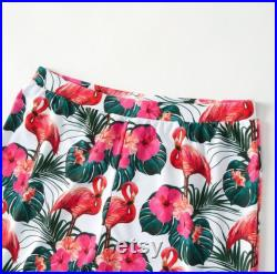 Hibiscus Flower Swimsuit Family, Beach Swimwear, Matching Mom And Daughter Outfits Cool Swimwear, Matching Father Son Trunks Swimming