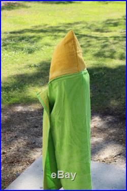 Hooded Beach Towel-Yellow and Green Leaves